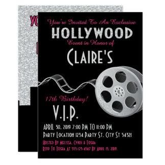 Hollywood Glitter Birthday Card