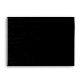Hollywood Gold & Black Damask: Linen A-7 Envelope