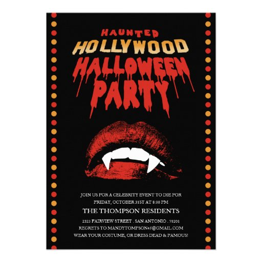Hollywood Party Invitation with awesome invitations template
