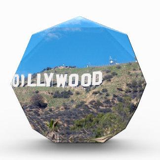 hollywood hills acrylic award