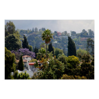 Hollywood Hills, California Poster