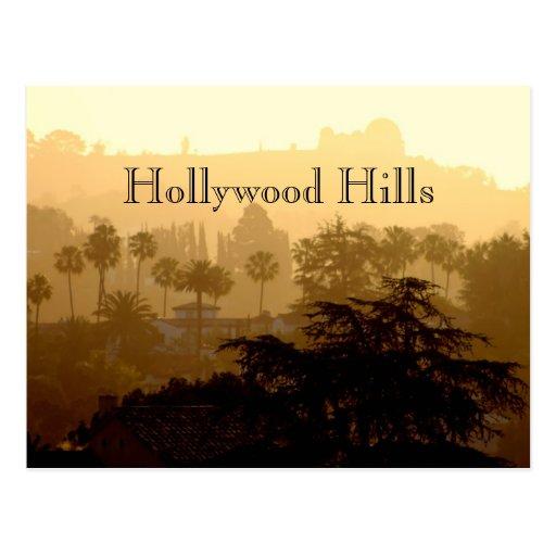 Hollywood Hills, California Postcard