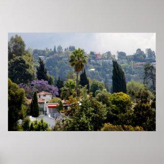 Hollywood Hills, California Póster