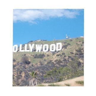hollywood hills notepad