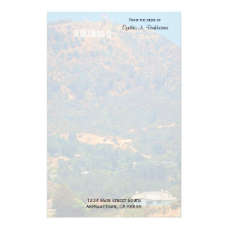 Hollywood Hills Personalized Stationery