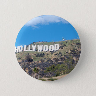 hollywood hills pinback button