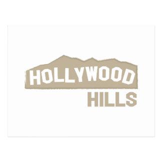 Hollywood Hills Tarjeta Postal