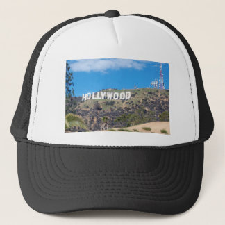 hollywood hills trucker hat