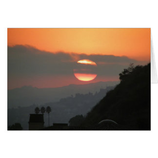 """""""Hollywood Hills View"""" Card"""