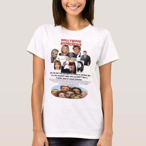 HOLLYWOOD HYPOCRITES - Words vs Actions T-Shirt