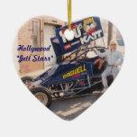 Hollywood Jett Starr con su coche de la suciedad Adorno De Cerámica En Forma De Corazón