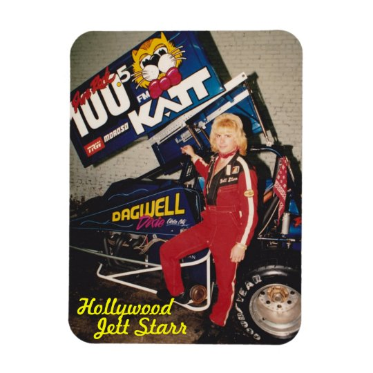 Hollywood, Jett Starr Rectangle Magnet