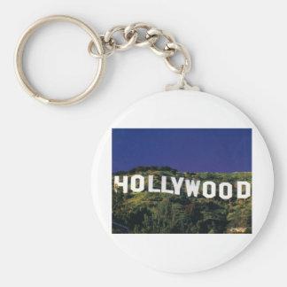 hollywood.jpg basic round button keychain