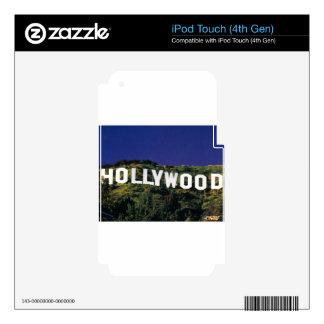 hollywood.jpg calcomanía para iPod touch 4G