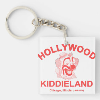 Hollywood Kiddieland, Chicago, IL. Amusement Park Double-Sided Square Acrylic Keychain