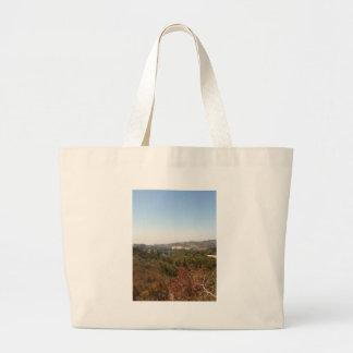 hollywood landscape tote bag