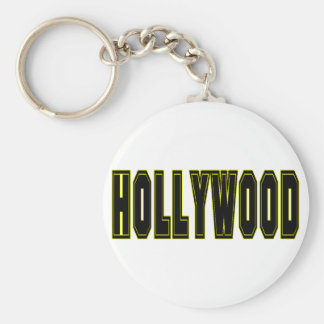 Hollywood Llavero Redondo Tipo Pin