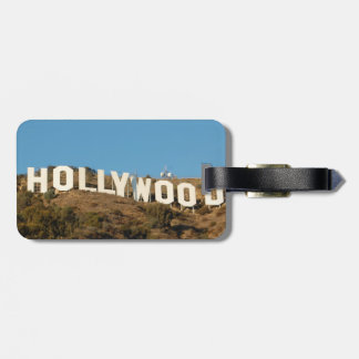 HOLLYWOOD Luggage tag with leather strap