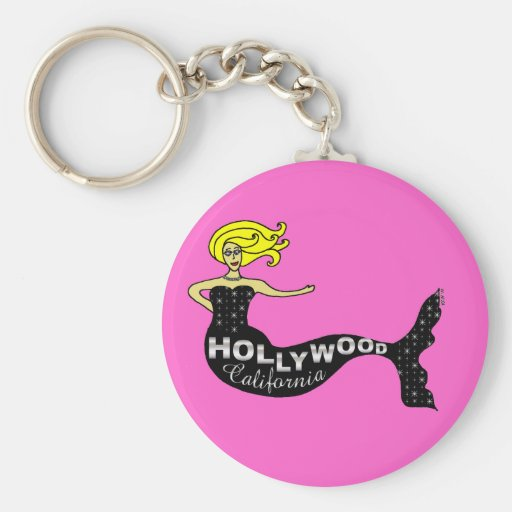 Hollywood Mermaid (pink) Key Chains
