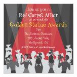 """Hollywood Movie Award Party Invitation 5.25"""" Square Invitation Card"""