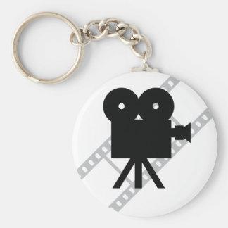hollywood movie cine camera film keychain