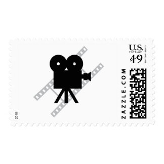 hollywood movie cine camera film postage