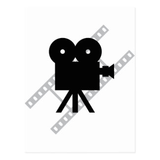 hollywood movie cine camera film postcard