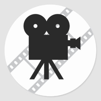 hollywood movie cine camera film sticker