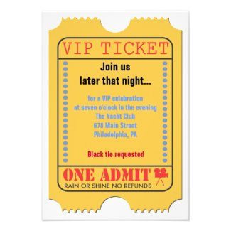 HOLLYWOOD MOVIES Themed Bar Bar Mitzvah Party Card