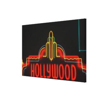 Hollywood neon sign, Los Angeles, California Canvas Prints