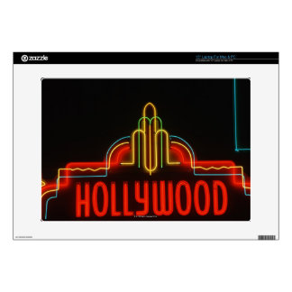 Hollywood neon sign, Los Angeles, California Laptop Skins