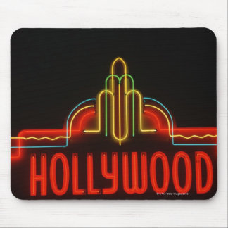 Hollywood neon sign, Los Angeles, California Mousepads