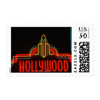 Hollywood neon sign, Los Angeles, California Postage