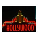 Hollywood neon sign, Los Angeles, California Postcard