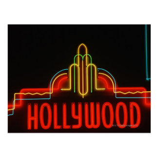Hollywood neon sign, Los Angeles, California Postcard