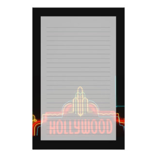 Hollywood neon sign, Los Angeles, California Stationery