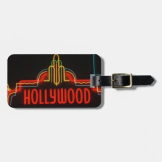 Hollywood neon sign, Los Angeles, California Tag For Luggage