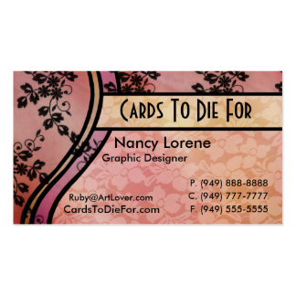 Hollywood Nights in Peach Business Cards