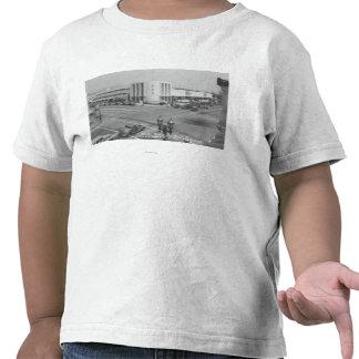 Hollywood, opinión de CA de la ciudad de radio y d Camiseta