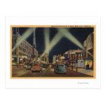 Hollywood, opinión de CANight del Blvd. de Hollywo Tarjetas Postales