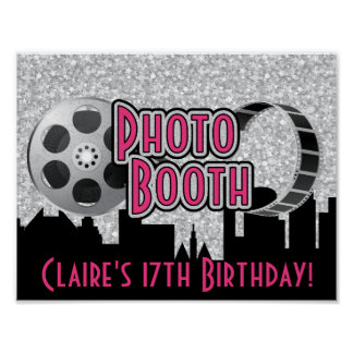 Hollywood Party Photo Booth Poster