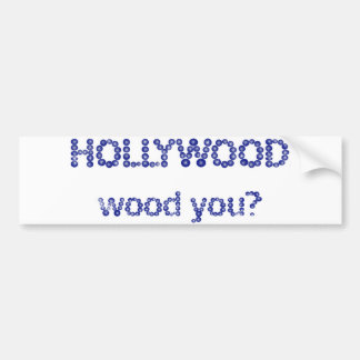 hollywood pegatina para auto