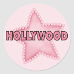 Hollywood Pegatina Redonda