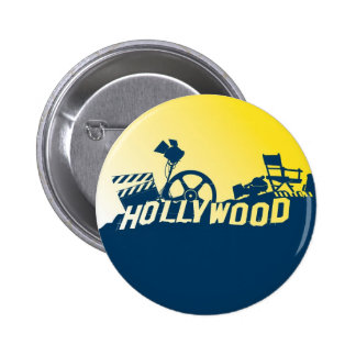 Hollywood Pinback Button