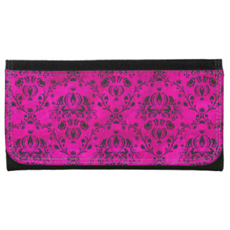 Hollywood Pink Damask Wallets
