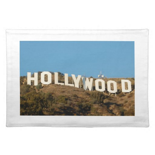 Hollywood placemat