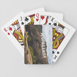 Hollywood Propaganda Sign Playing Cards