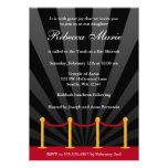 Hollywood Red Carpet Bat Mitzvah Invitation Custom Invites