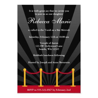 Hollywood Red Carpet Bat Mitzvah Invitation