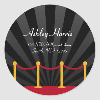 Hollywood Red Carpet Custom Address Label